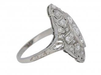front view antique ornate diamond ring hatton garden berganza