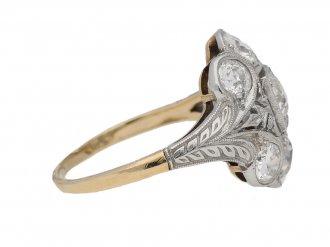 Sapphire and diamond coronet cluster ring, circa 1910. berganza hatton garden