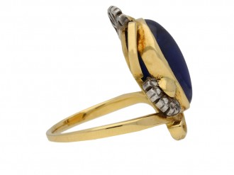 art nouveau sapphire diamond ring hatton garden berganza