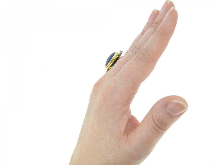 front art nouveau sapphire diamond ring hatton garden berganza