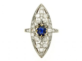 Belle Époque sapphire and diamond ring