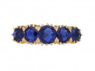 antique sapphire ring berganza hatton garden