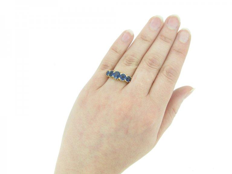 front antique sapphire ring berganza hatton garden