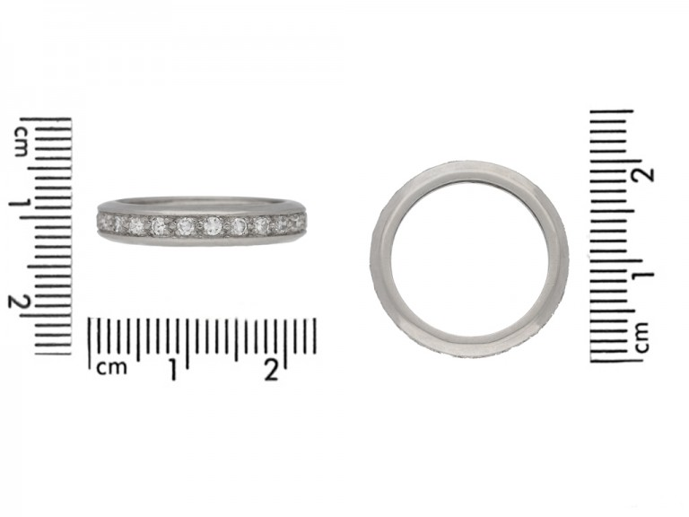 size view antique diamond eternity ring berganza hatton garden