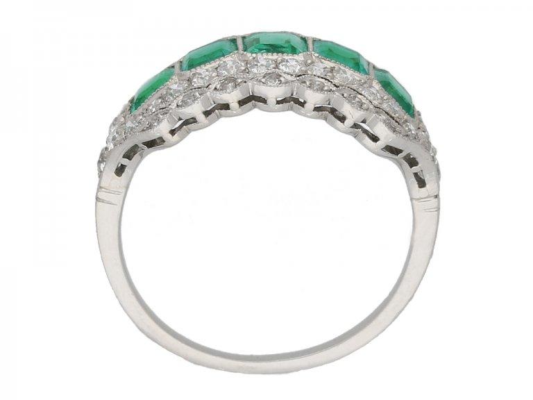 back view antique emerald diamond ring berganza hatton garden