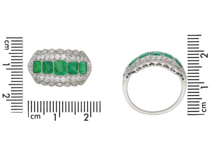 size view antique emerald diamond ring berganza hatton garden