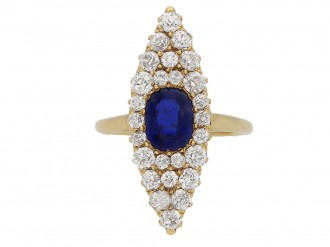 Victorian sapphire diamond ring berganza hatton garden