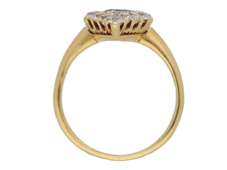 back view Victorian sapphire diamond ring berganza hatton garden