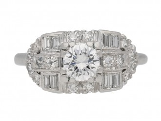 Round baguette diamond ring berganza hatton garden