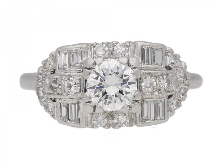 Round baguette diamond ring berganza hatton garden