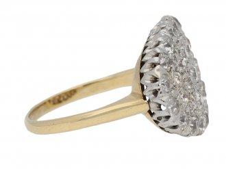 Antique Old cut diamond cluster ring berganza hatton garden
