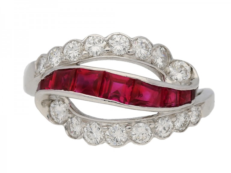 Oscar Heyman ruby diamond ring berganza hatton garden