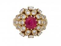 Van Cleef Arpels ruby diamond ring berganza hatton garden