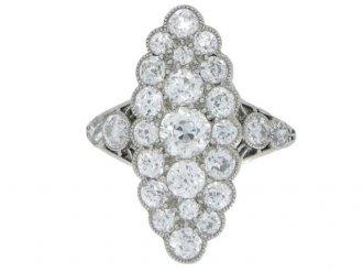 antique Marquise diamond ring berganza hatton garden