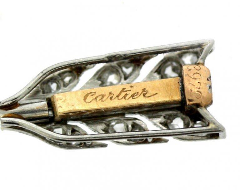 Cartier Antique Rose Diamond Pin berganza hatton garden