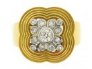 front view Diamond cocktail ring, circa 1945.