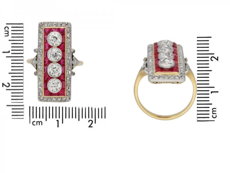 size view Ruby Diamond Ring berganza hatton garden