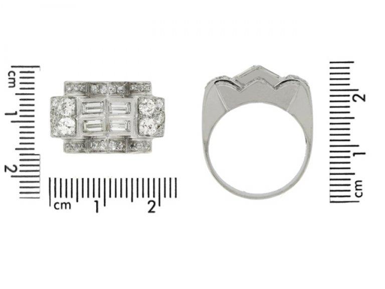 Art Deco diamond ring, circa 1935.