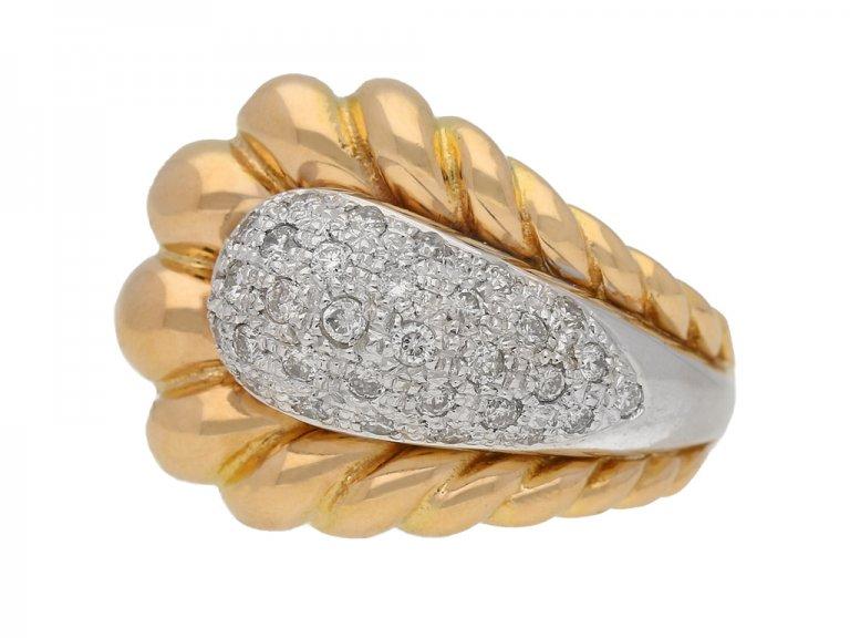 Vintage Diamond cocktail ring berganza hatton garden
