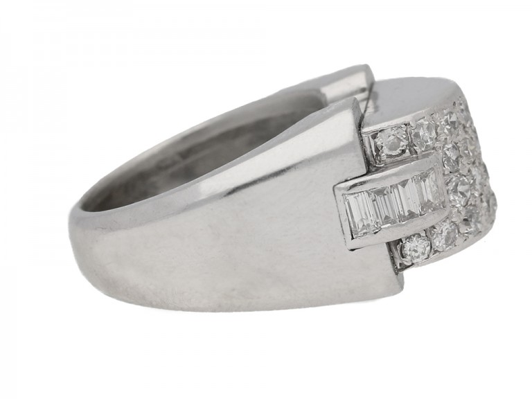 Art Deco diamond cocktail ring, circa 1935. berganza hatton garden