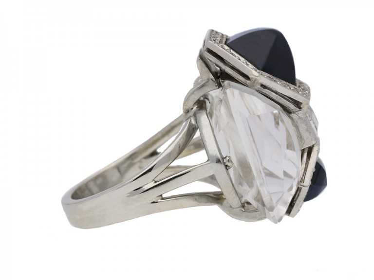 side Seaman Schepps rock crystal diamond sapphire berganza hatton garden