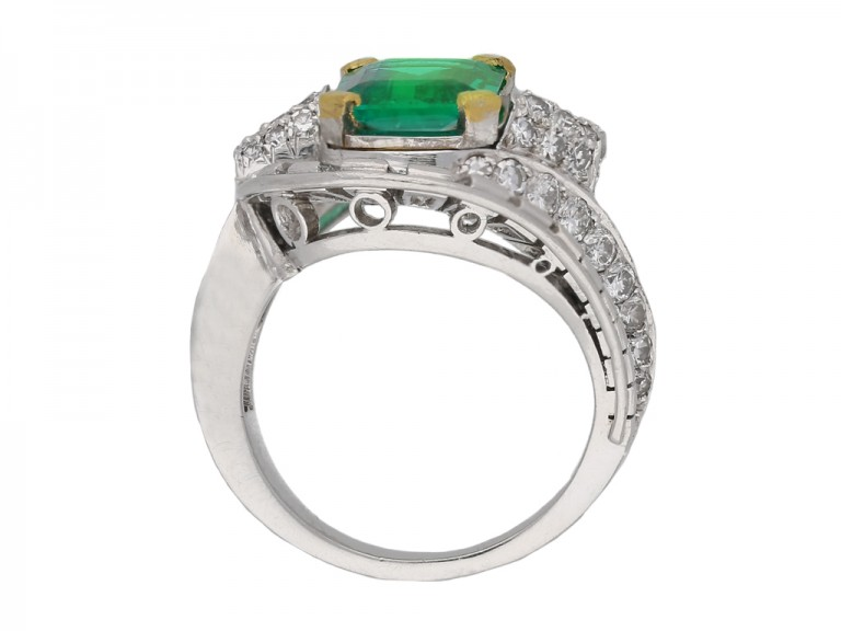 Mellerio emerald and diamond ring berganza hatton garden