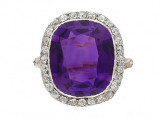 antique amethyst diamond ring berganza hatton garden