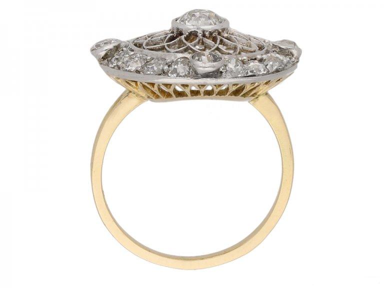 Belle Epoquecoronet  diamond cluster ring circa 1905.html
