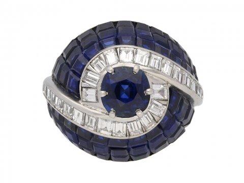 sapphire diamond ring berganza hatton garden