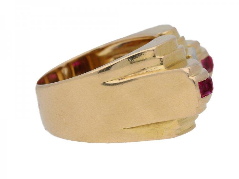 vintage ruby diamond cocktail ring hatton garden berganza