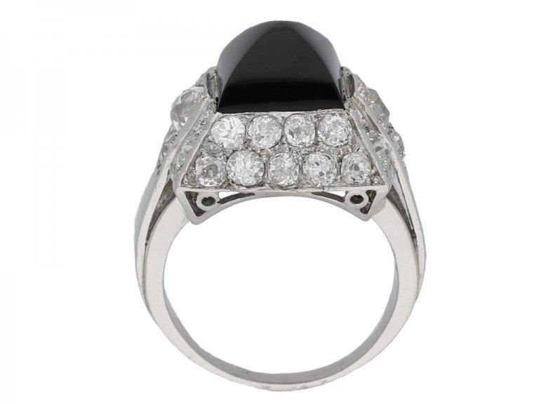 art deco diamond onyx vintage ring hatton garden berganza