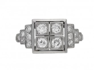 ront view Art Deco diamond ring, French, circa 1935 berganza hatton garden