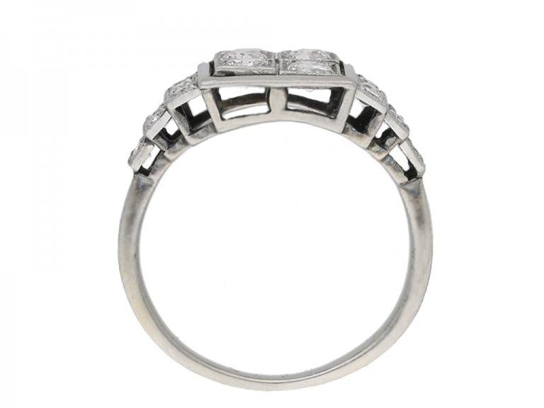 back view Art Deco diamond ring, French, circa 1935 berganza hatton garden