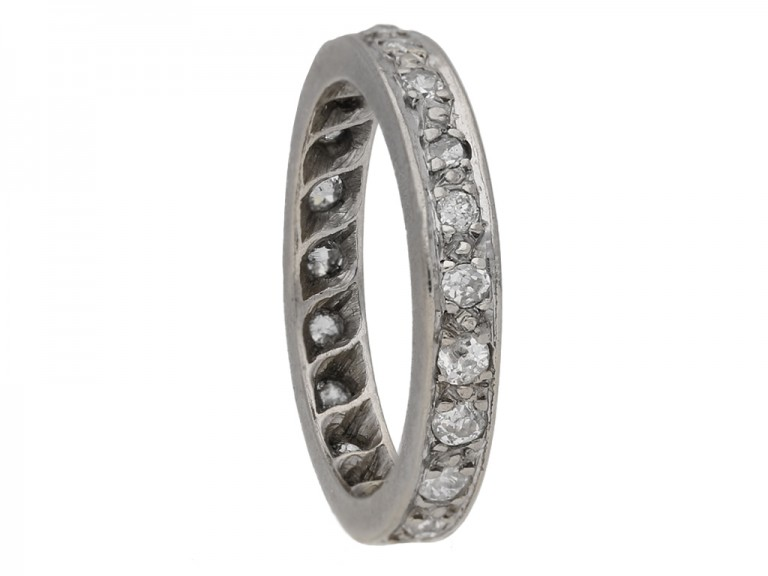 vintage diamond eternity band berganza hatton garden