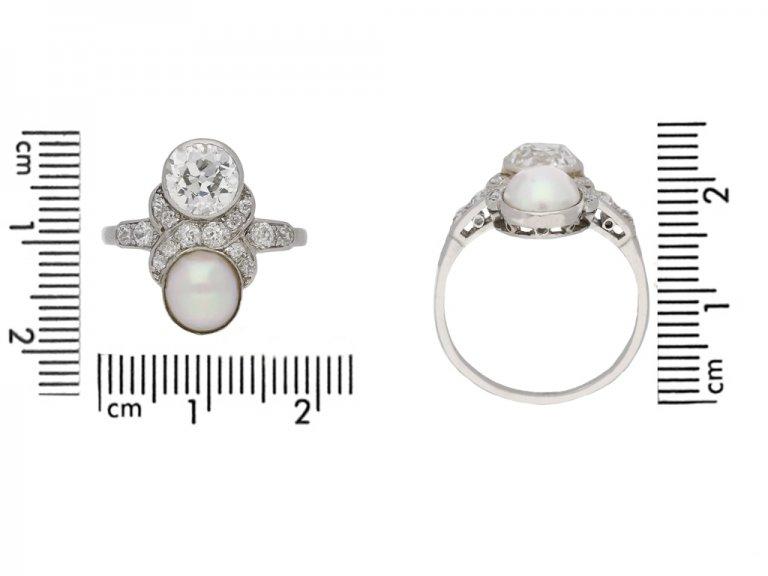 size view art deco pearl diamond ring berganza hatton garden