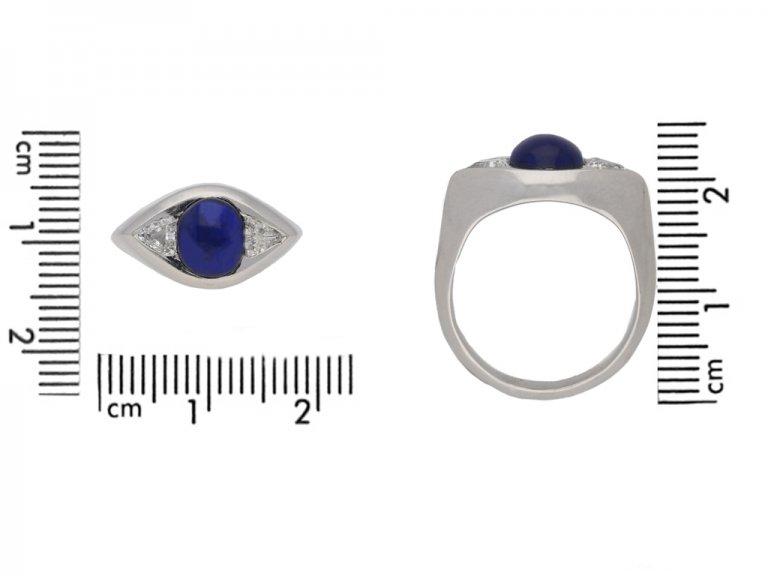 size view vintage sapphire diamond ring berganza hatton garden