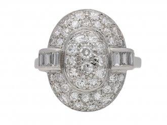Vintage oval diamond cluster ring berganza hatton garden