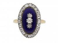 antique diamond enamel ring berganza hatton garden