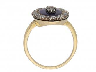 antique diamond enamel ring berganza hatton garden