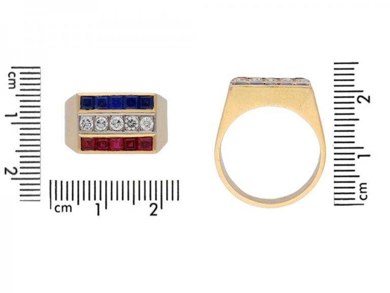 vintage ruby diamond sapphire ring berganza hatton garden