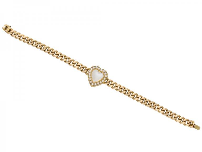 antique pearl moonstone bracelet berganza hatton garden