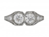 front view Kohn Art Deco diamond ring hatton garden berganza