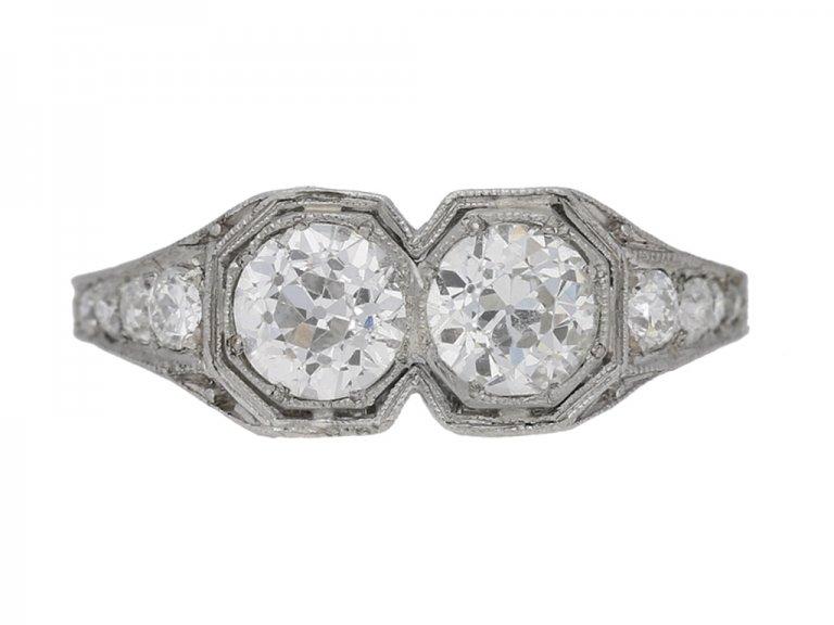 front view Kohn Art Deco diamond ring hatton garden berganza