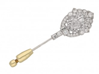 Art Deco diamond pin berganza hatton garden