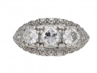 vintage Jabel diamond ring berganza hatton garden