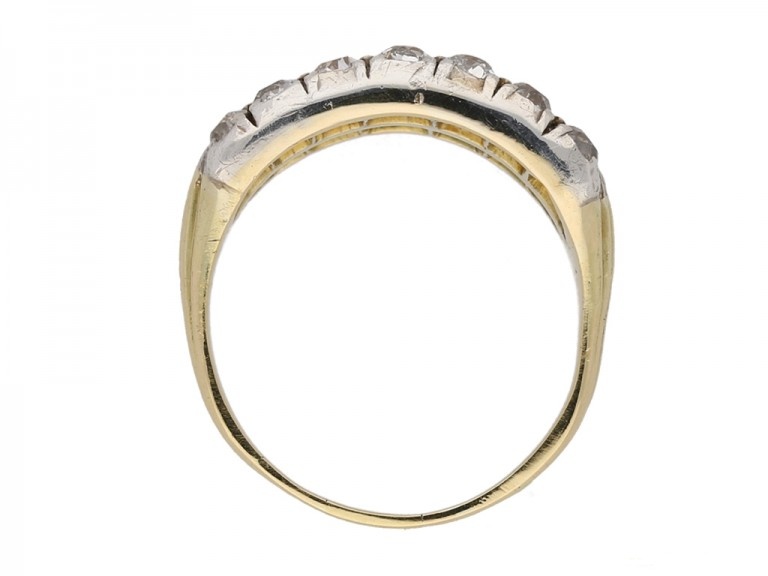 front antique emerald diamond ring berganza hatton garden