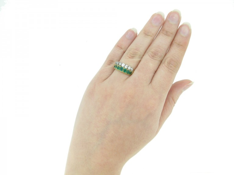 front antique emerald diamond ring berganza hatton garden
