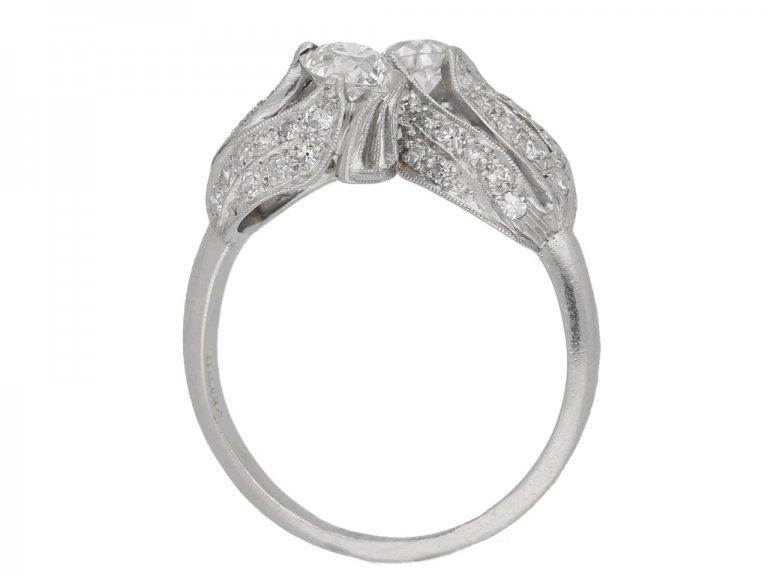 vintage Edward Petri diamond ring berganza hatton garden