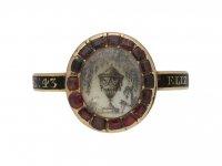 memorial garnet enamel ring berganza hatton garden